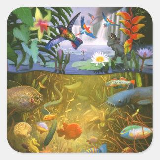 Etiqueta dos animais selvagens da floresta húmida