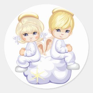 Etiqueta dos anjos do amor do bebê