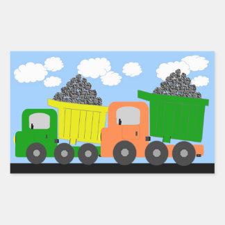 Etiqueta dos caminhões adesivo retângular