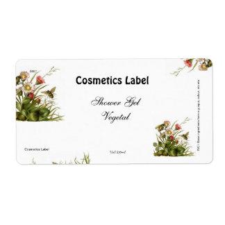 Etiqueta dos cosméticos