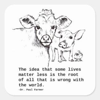 Etiqueta dos direitos dos animais