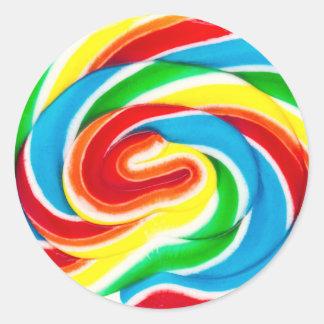 etiqueta dos doces do pirulito do redemoinho