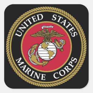 Etiqueta dos E.U. Corp marinho