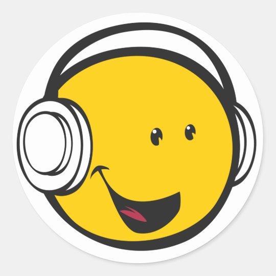 Armario Garaje Plastico ~ Etiqueta dos fones de ouvido de Emoji Adesivo Zazzle