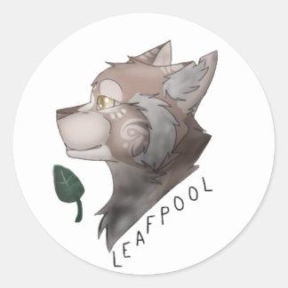 Etiqueta dos gatos do guerreiro de Leafpool