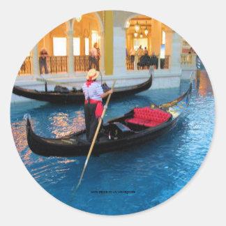 Etiqueta dos Gondoliers de Las Vegas Veneza