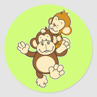 Etiqueta dos irmãos do macaco adesivo