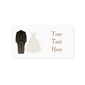 Etiqueta dos noivos do marfim etiqueta de endereço