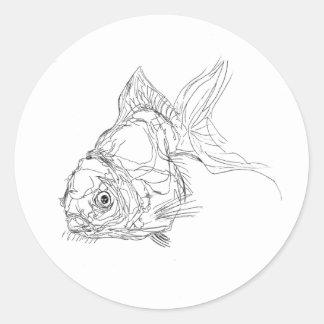 Etiqueta dos peixes