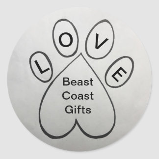 Etiqueta dos presentes da costa do animal do