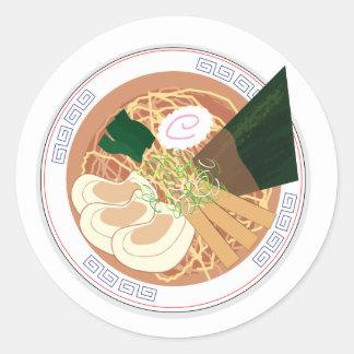 Etiqueta dos Ramen, círculo, folha de 20 (Tokyo