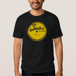 Etiqueta dos registros do colibri t-shirts