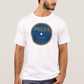 Etiqueta dos registros do delta camiseta