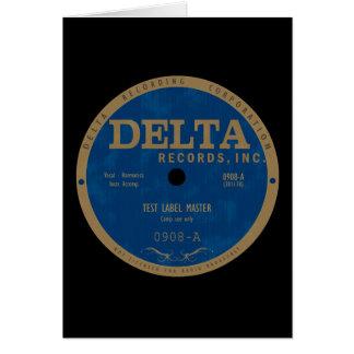 Etiqueta dos registros do delta cartão comemorativo