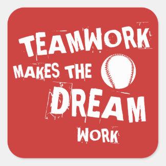 Etiqueta dos trabalhos em equipe de Basesball