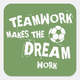 Etiqueta dos trabalhos em equipe do futebol
