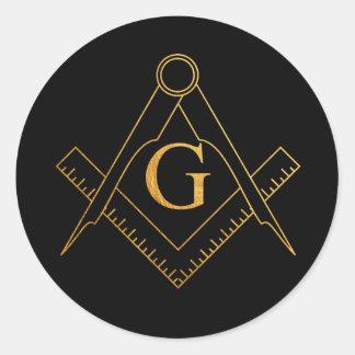 Etiqueta dourada maçónica do símbolo de G.A.O.T.U