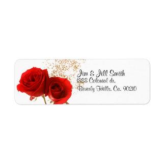 Etiqueta Duas rosas vermelhas