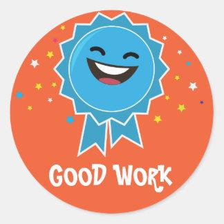 Etiqueta educacional do bom trabalho
