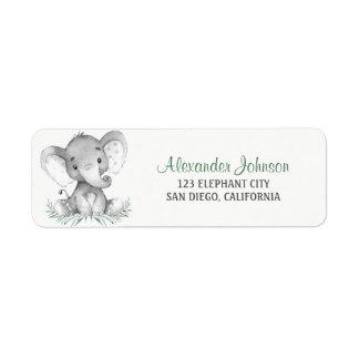 Etiqueta Elefante da aguarela