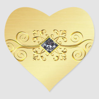 Etiqueta elegante do coração do ouro, foto do rolo