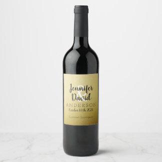 Etiqueta elegante do vinho do casamento de Ombre
