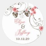 Etiqueta elegante floral do casamento de Fleur dos Adesivo