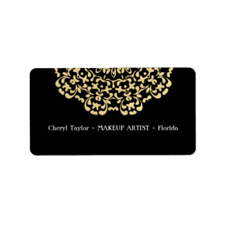 Etiqueta Elegante impressionante do preto do ouro