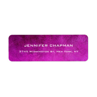 Etiqueta Elegante liso moderno feminino cor-de-rosa