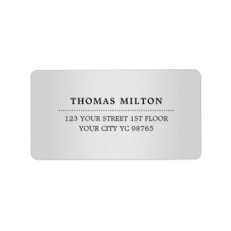 Etiqueta elegante minimalista do preto da prata do