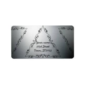 Etiqueta Elegante, moderno, à moda, preto e de prata,