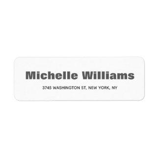 Etiqueta Elegante moderno profissional minimalista corajoso