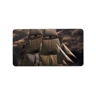 Etiqueta Embarcação do navio de navigação
