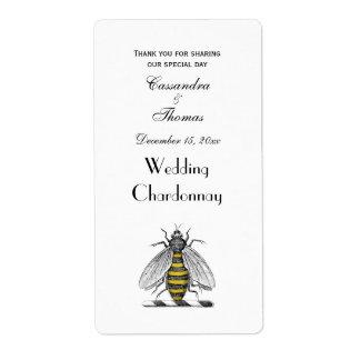 Etiqueta Emblema heráldico formal C da brasão da abelha do