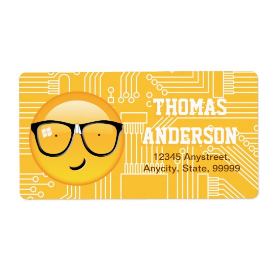 Etiqueta Emoji totalmente Techie ID229