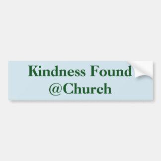 Etiqueta encontrada bondade do @Church Adesivo De Para-choque