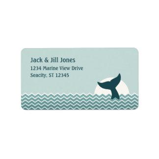 Etiqueta Endereço da cauda da baleia