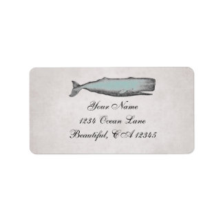 Etiqueta Endereço da praia da baleia do Victorian do
