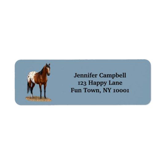 Etiqueta Endereço De Retorno Cavalo bonito do Appaloosa da baía