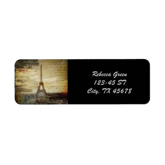 Etiqueta Endereço De Retorno O francês scripts a torre Eiffel moderna de Paris