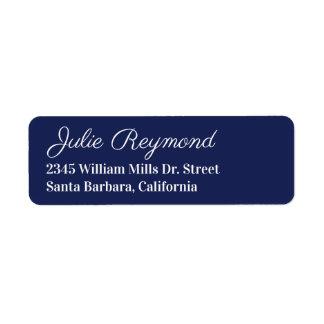 Etiqueta endereço do remetente azul escuro
