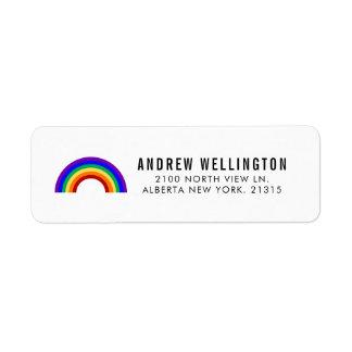 Etiqueta Endereço do remetente clássico do arco-íris |