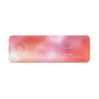 Etiqueta Endereço do remetente cor-de-rosa dos doces da