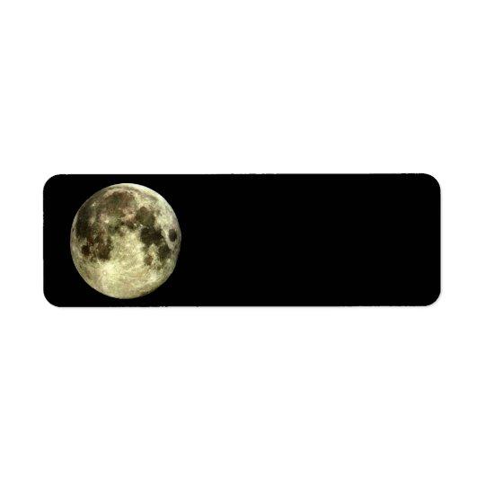 Etiqueta Endereço do remetente da Lua cheia