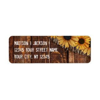 Etiqueta Endereço do remetente de madeira rústico do