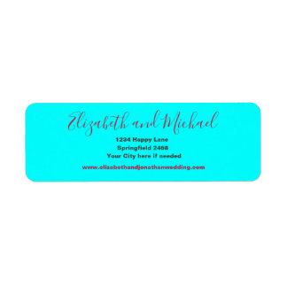 Etiqueta Endereço do remetente do azul do Aqua