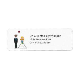 Etiqueta Endereço do remetente do casamento da noiva & do