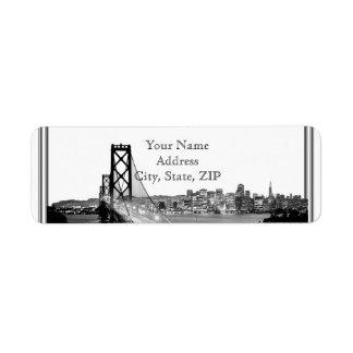 Etiqueta Endereço do remetente do destino de San Francisco