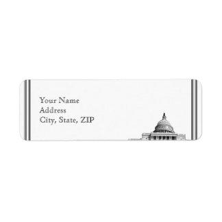 Etiqueta Endereço do remetente do destino do Washington DC