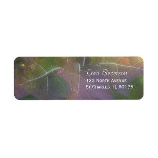 Etiqueta Endereço do remetente do Hydrangea da folha do